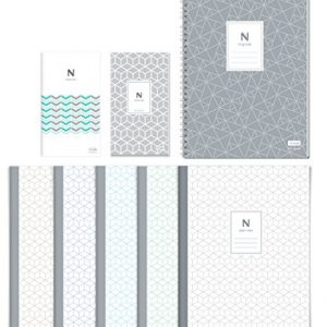 N assorted notebooks