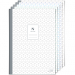 N plain notebook 5 stuks verschillende kleuren