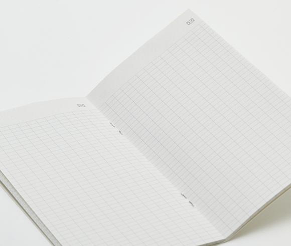 N pocket notebook open