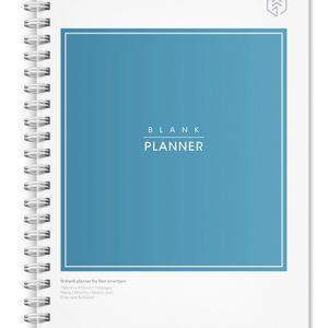 N blank planner
