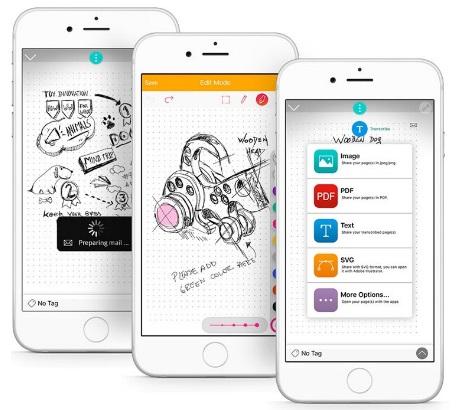 Moleskine Notes app