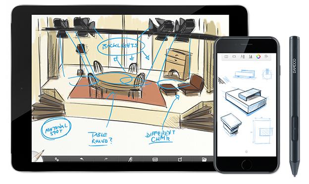Wacom Sketch op iPad of iPhone