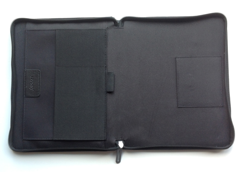 Filofax A5 map Microfiber Zwart binnenkant