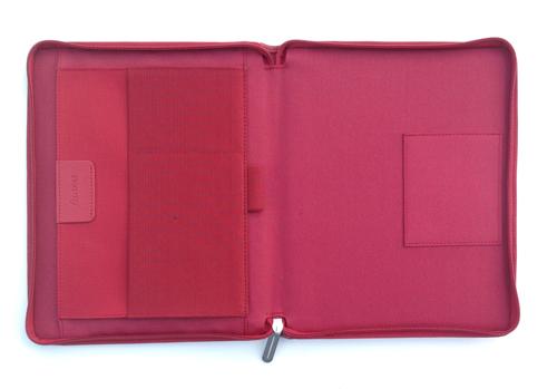 Filofax A5 map Microfiber Rood binnenkant