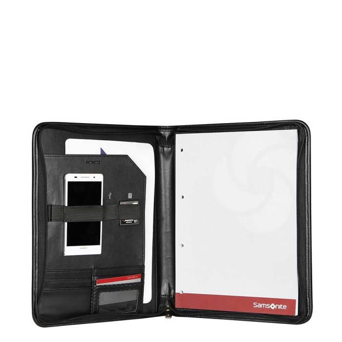 Samsonite Stationery S-Derry Zip Folder A4 black binnekant