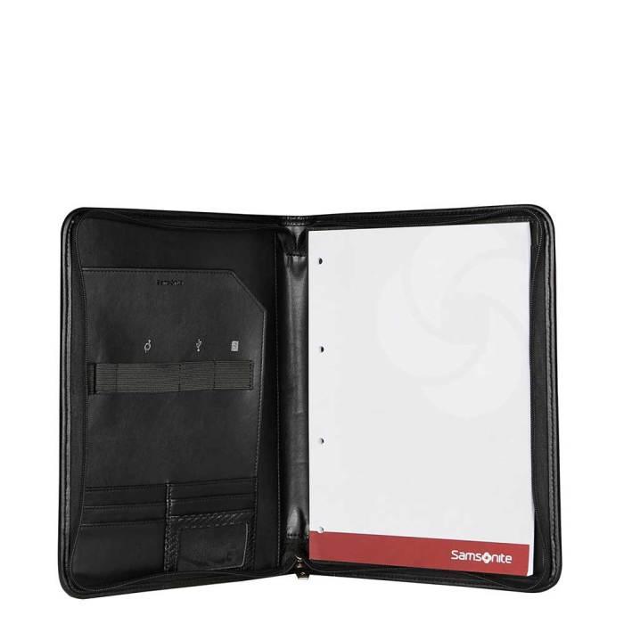 Samsonite Stationery S-Derry Zip Folder A4 black binnenkant