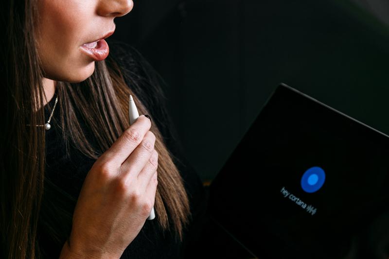 Cortana ingeschakeld