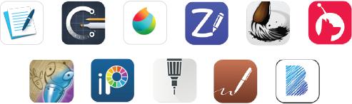 Wacom Apps voor schetsen
