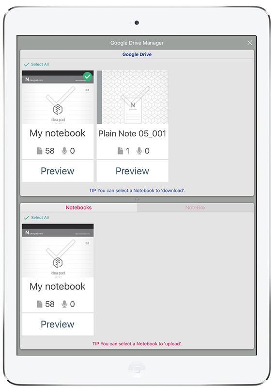 Succesvol overzetten van notitieboeken van neo Notes naar Google Drive