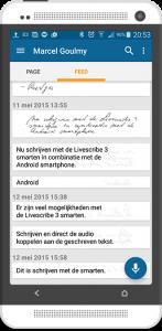 Android van geschreven naar getypt