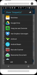 Android deel je informatie via apps
