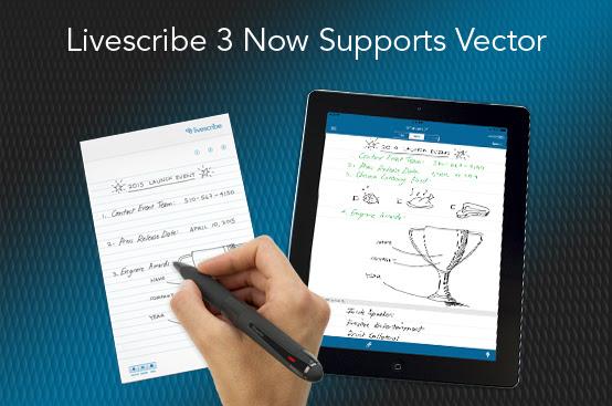 Livescribe ondersteutnt Vector