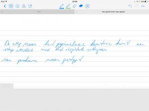 Goodnotes schrijven