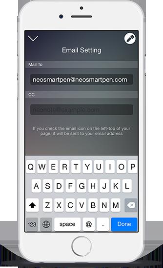 Neo Notes mailen