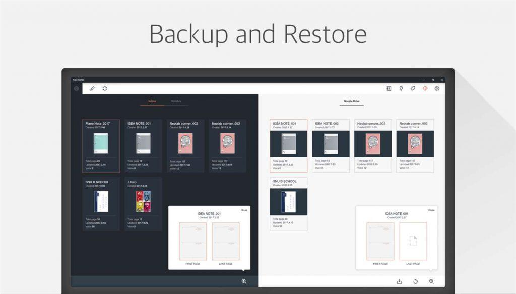 Neo Notes Windows back-up en restore