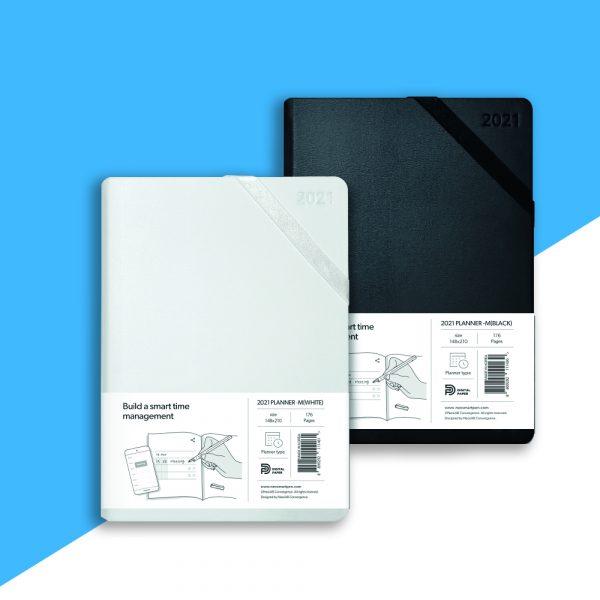 Planner medium White and black