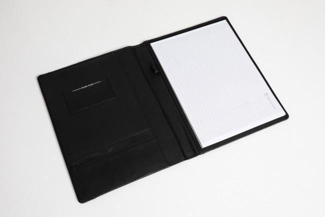 A4 schrijfmap zwart leer zwarte kleur bies 2