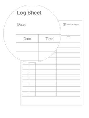 N-code PDF Log sheet
