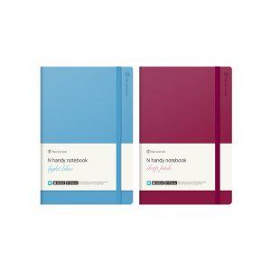 N handy notebook pink en blue