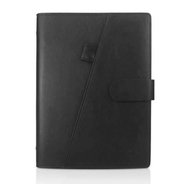 Black PU Leather A5